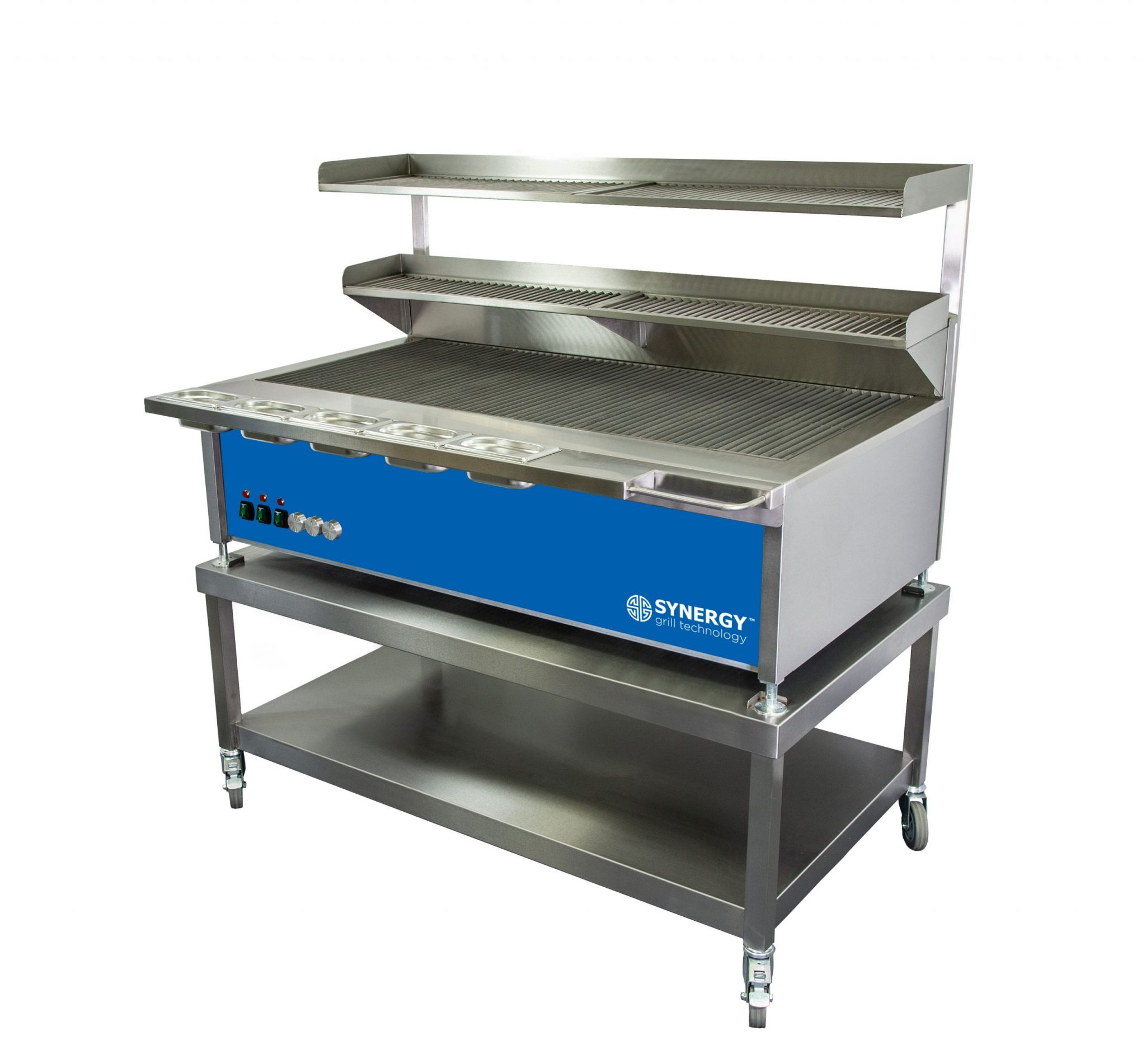 Synergy Grill Trilogy ST1300 Blue with Mobile Table