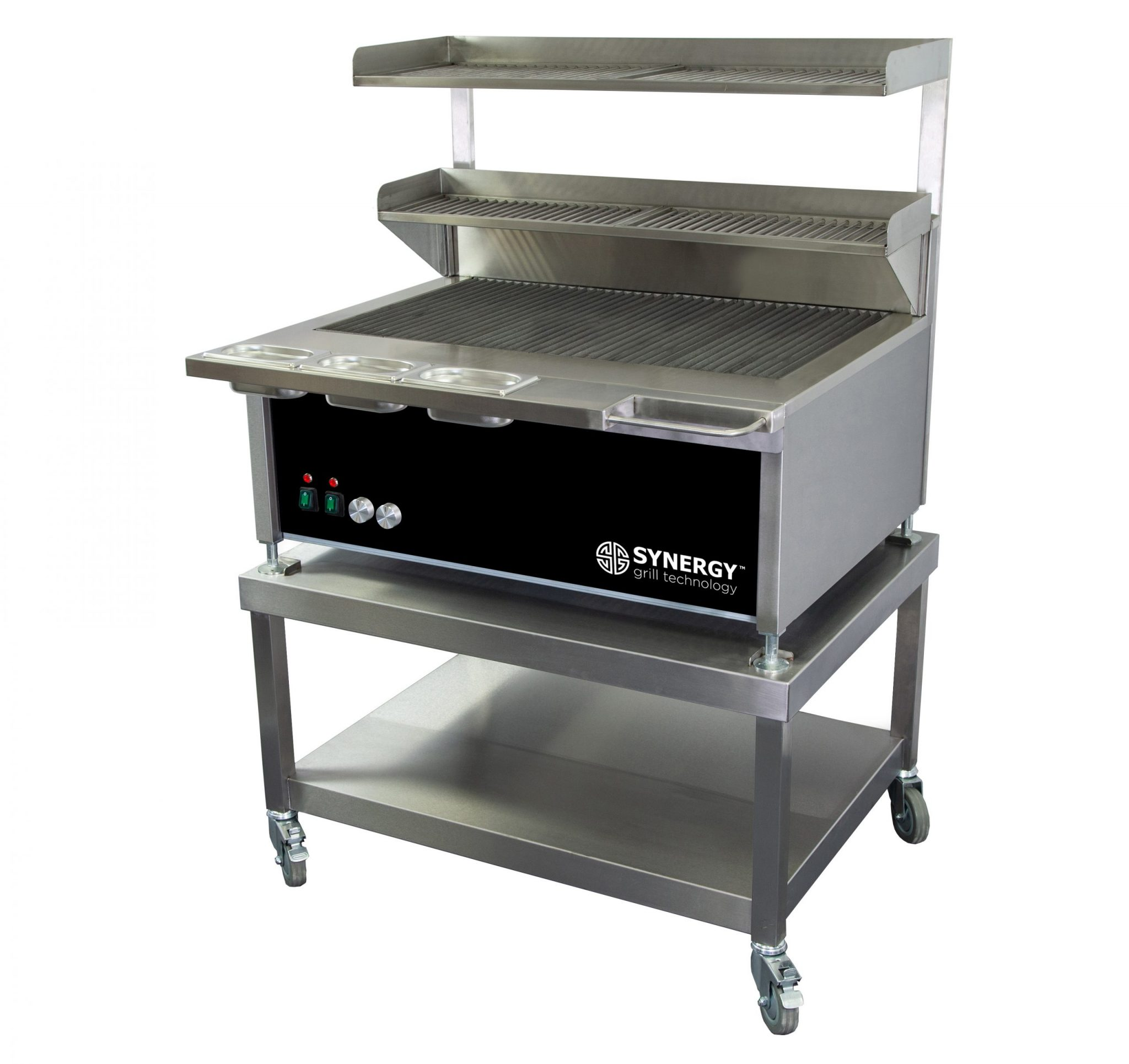 Synergy Grill Trilogy ST900D Black with Mobile Table