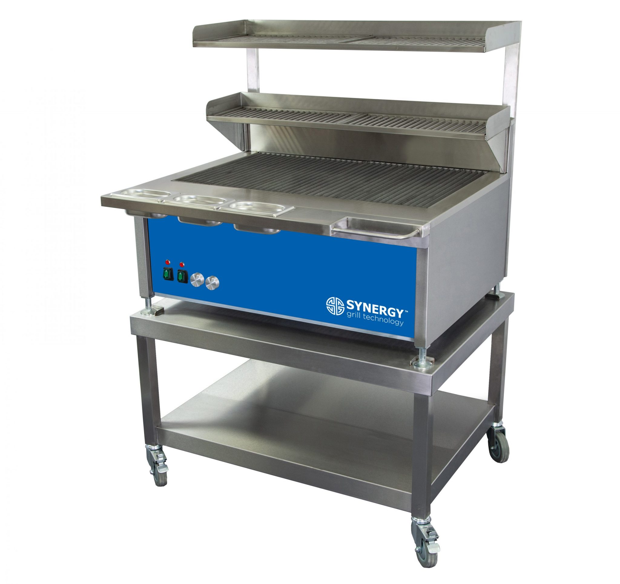 Synergy Grill Trilogy ST900D Blue with Mobile Table