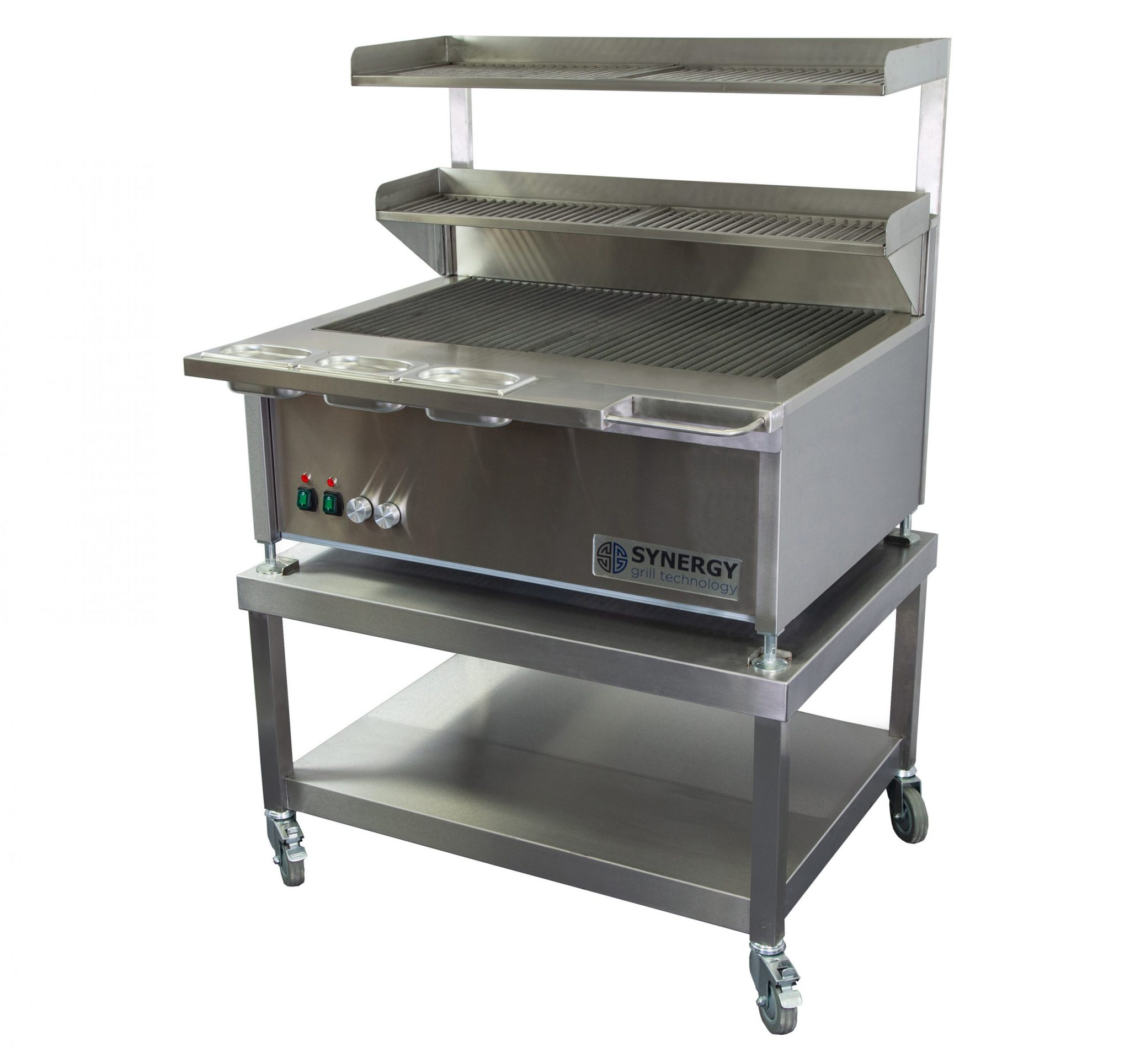 Synergy Grill Trilogy ST900D Silver with Mobile Table