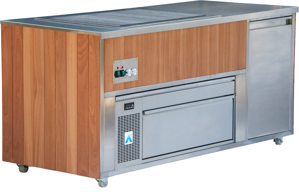 Synergy Outdoor Cook Station with Adande Fridge and Drop In Grill